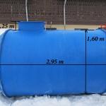 Rezervor fibra sticla 5000 L orizontal